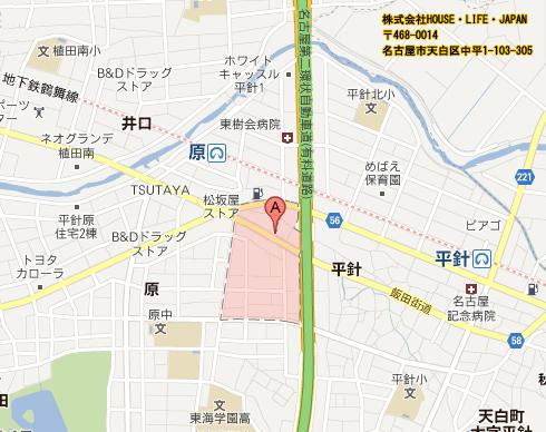 map ハウスライフジャパン